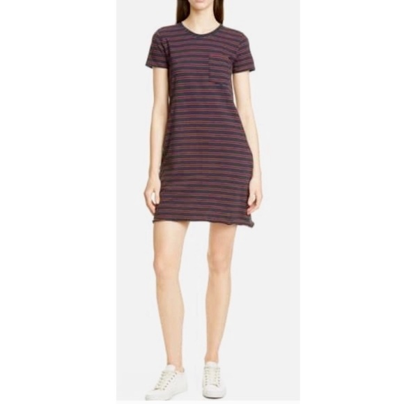 ATM Anthony Thomas Melillo Dresses & Skirts - ATM Striped Jersey Dress with Pockets.